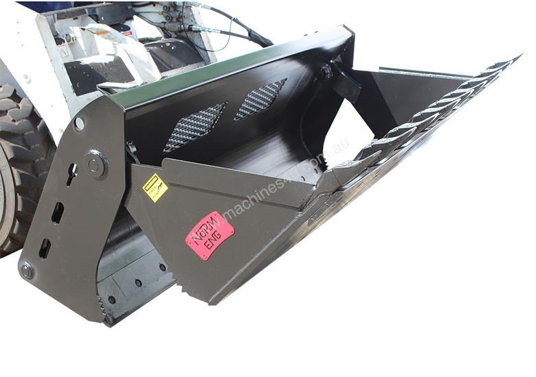 New Norm Engineering 4-in-1 Loader Style Bucket for Kubota SVL-90 Skid Steer