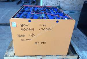 All these are spare batteries for forklift .   Solar Battery Lead Acid Traction currently 80V 600AH