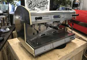 WEGA CONCEPT 2 GROUP WHITE HI-CUP ESPRESSO COFFEE MACHINE