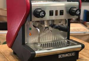 RANCILIO S24 1 GROUP RED ESPRESSO COFFEE MACHINE HOME OFFICE CART CAFE
