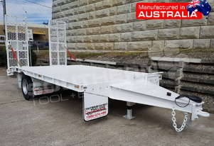 9 Ton Single Axle Tag Trailer WHITE ATTTAG