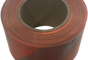 Orange Silver Barricade Tape 100m x 75mm - Single Roll