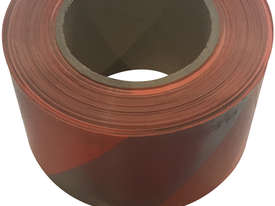 Orange Silver Barricade Tape 100m x 75mm - Single Roll - picture0' - Click to enlarge