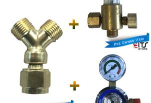 Argon Regulator, Comet 'Y' Connector and Argon & CO2 Flowmeter