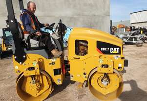 UNUSED CAT CB27 2.7T TANDEM STEEL DRUM ROLLER