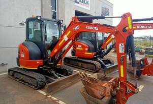 Kubota 3.5t Mini Excavators for Hire