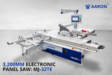 AARON Heavy-Duty 3200 mm Electronic Precision Sliding Table Saw | 3-Phase Panel Saw | MJ-32TE