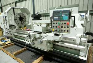 HOLLOW SPINDLE LATHE 40 INCH SWING X 2000 MM X 10 INCH BORE MEGABORE