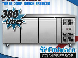 3 DOOR BENCH FREEZER - EBF03-SS