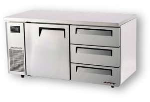 Turbo Air KUR15-3D-3 Drawer Under Counter Side Prep Table Refrigerator