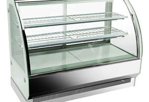 F.E.D. CS-1500S2 Bonvue Chilled Curved Glass Stainless Steel 3 Levels Food Display