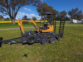 2016 Case CX18B Excavator + trailer + attachment