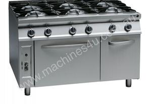 Fagor 6 Burner Gas Range with 2/1 GN Oven - CG9-61