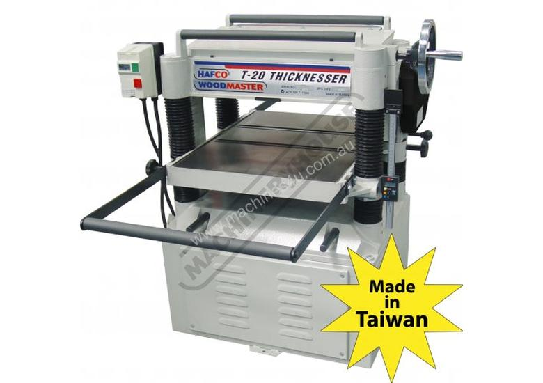 T-20A Thicknesser - HSS Blades 508 x 200mm (W x H) Material Capacity  Includes 4 x High Speed Steel