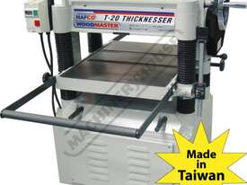 T-20A Thicknesser - HSS Blades 508 x 200mm (W x H) Material Capacity  Includes 4 x High Speed Steel  - picture0' - Click to enlarge