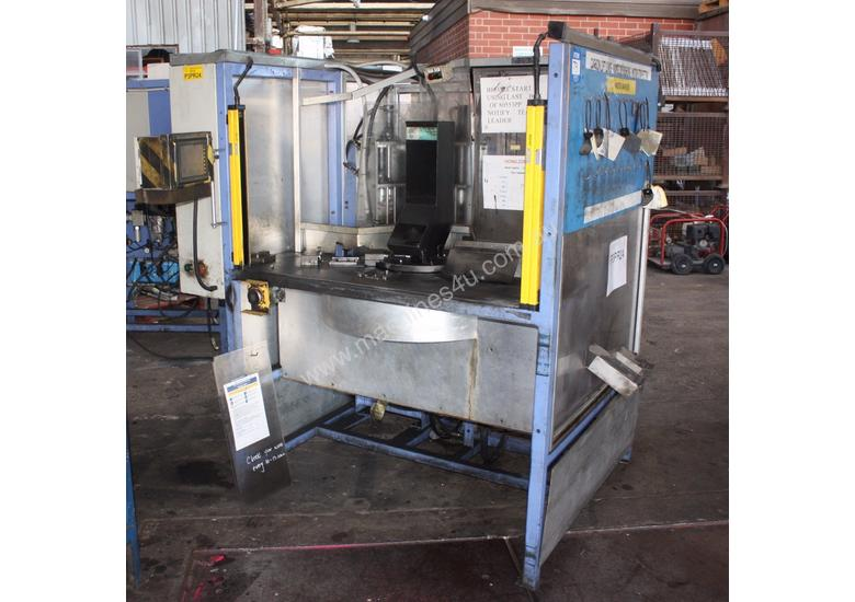 DUAL station action rotary transfer hydraulic pres