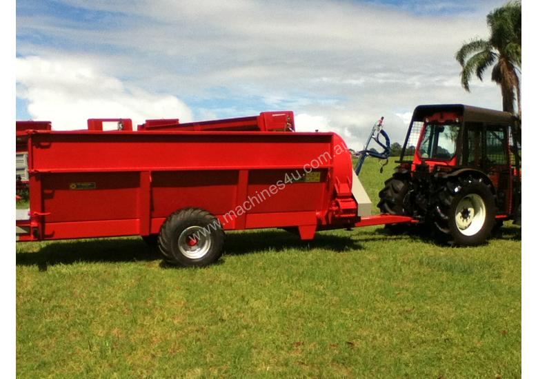 Compost/manure row spreader suit Orchard & Vineyard