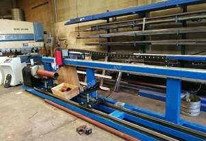 CNC pipe / tube plasma cutter 400mm diameter/ 6000mm long