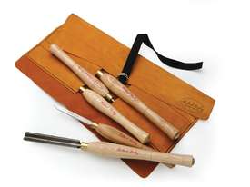 Robert Sorby 5 Piece Turning Tool Set in a Leather Roll - picture0' - Click to enlarge