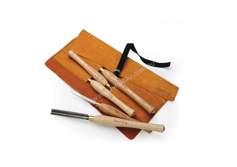 Robert Sorby 5 Piece Turning Tool Set in a Leather Roll