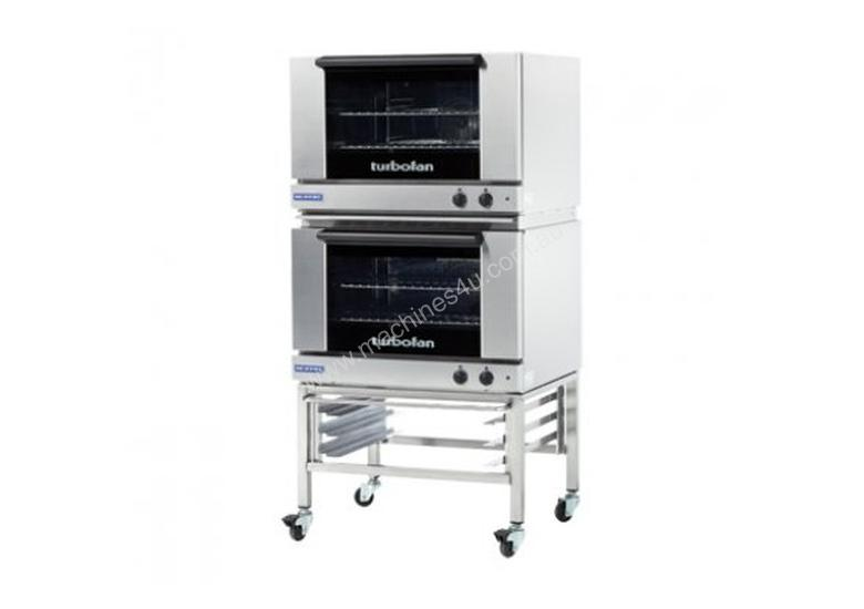 Turbofan E27M2/2C - Full Size Tray Manual Electric Convection Ovens Double Stacked With Castor Base