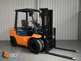 Used Toyota 7FD25 Dual Drive Forklift 2Z Diesel Engine Container Mast - picture3' - Click to enlarge