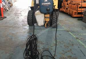 Demag Electric Chain Hoist SWL 1 Ton 3 Phase 415 Volt Electric Shop Crane & Carr