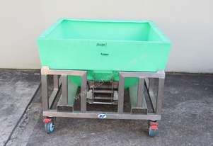 Stainless Steel Mobile Frame with Plastic Hopper