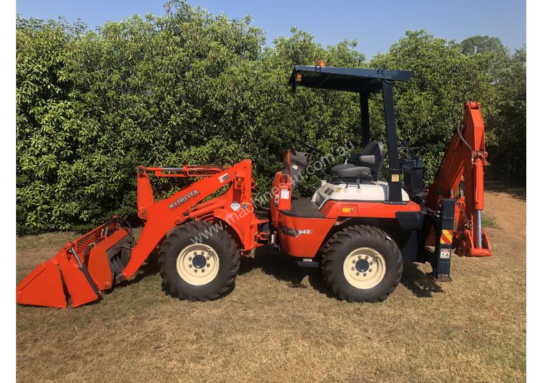 SOLD- another Unit Available- KUBOTA R420 4WD BackHoe Wheel Loader 3.3T 4in1 Bucket, Quick Couple