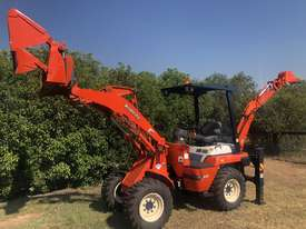 SOLD- another Unit Available- KUBOTA R420 4WD BackHoe Wheel Loader 3.3T 4in1 Bucket, Quick Couple - picture0' - Click to enlarge