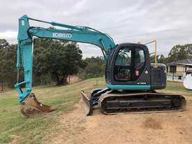 KOBELCO SK135SR 13.5T Excavator with Back Fill Blade - picture0' - Click to enlarge
