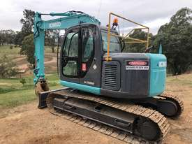 KOBELCO SK135SR 13.5T Excavator with Back Fill Blade - picture1' - Click to enlarge