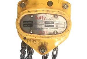 Tuffy Lift Block and Tackle Chain Hoist 0.5 Tonne x 3mtr chain