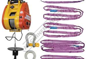 TBH500 Compact Wire Rope Hoist Package Deal 500kg Lifting Capacity, 30 Metre Lifting Height Includes