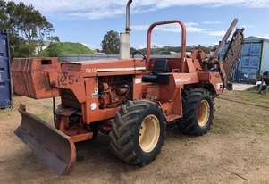 7610 trencher / plow , 84 hp , 1300 hrs , 4 wheel steer , front weights