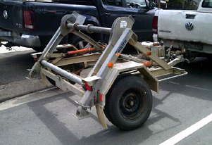 1 ton hydraulic self  loader cable drum trailer 2.5hp honda ,