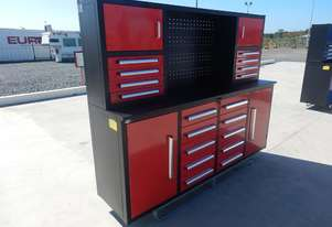 LOT # 0180 2.1m Work Bench/Tool Cabinet
