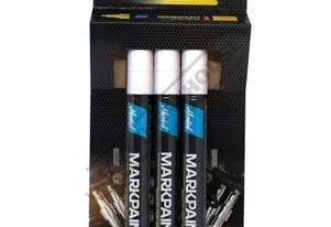 MK975W3 White Liquid Paint Marker - Weatherproof 3 x Marker Pack Perfect For Indoor Or Outdoor Use