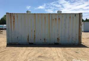 20ft Steel Shipping Container, Blue, Timber Floor, Whirly Vents, 240V Outlet,