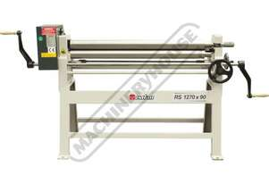 RS1270x90 Manual Sheet Metal Curving Rolls 1270  x 2.5mm Mild Steel Capacity Includes Wiring Grooves