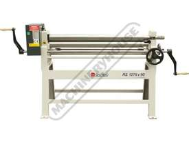 RS1270x90 Manual Sheet Metal Curving Rolls 1270  x 2.5mm Mild Steel Capacity - picture0' - Click to enlarge