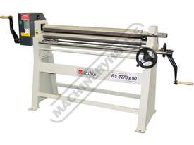 RS1270x90 Manual Sheet Metal Curving Rolls 1270  x 2.5mm Mild Steel Capacity - picture2' - Click to enlarge