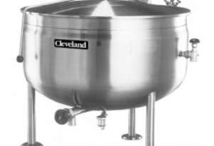 Cleveland KDLTSH 150 litre direct steam tilting ke