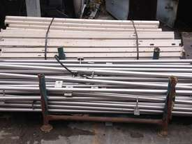 Stainless steel handrail with support base welded - picture0' - Click to enlarge