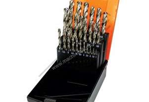 25 Piece Metric Precision HSS Drill Set 1 - 13mm 0.5mm Increments