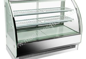 F.E.D. CS-1800S2 Bonvue Chilled Curved Glass Stainless Steel 3 Levels Food Display