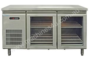 Sanden YPC-150GR Two Glass Door Under Bench Fridge - 1500mm