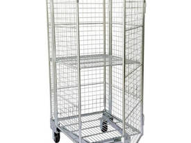 Budget Stock Trolley Full Cage Roof and Door - picture0' - Click to enlarge