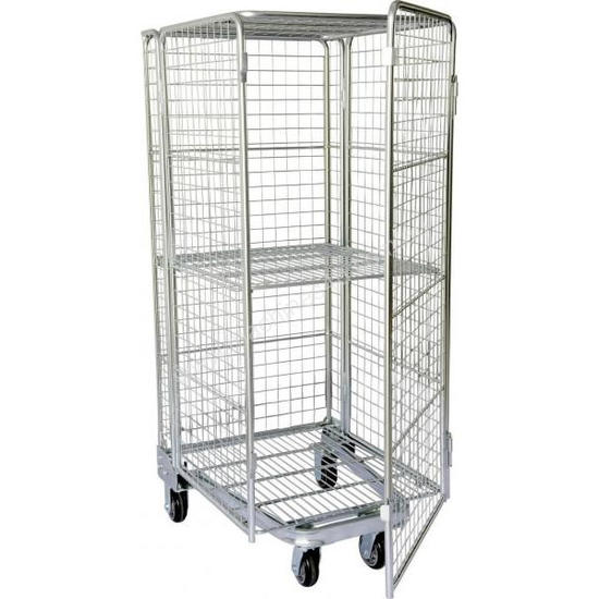 Budget Stock Trolley Full Cage Roof and Door