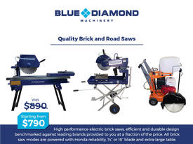Commercial Powered Electric Bricksaw 2.3 HP & Road